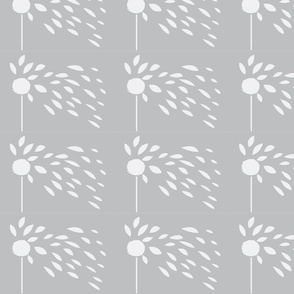 dandelion to colour in pale greyscale