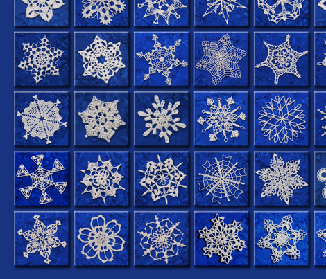 Snowcatcher Blue fabric by snowcatcher on Spoonflower - custom fabric