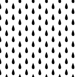Small Black and White Raindrops Vertical