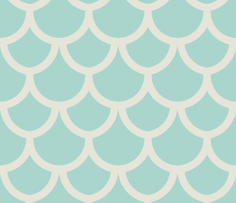 fish_scales_seafoam fabric by holli_zollinger on Spoonflower - custom fabric