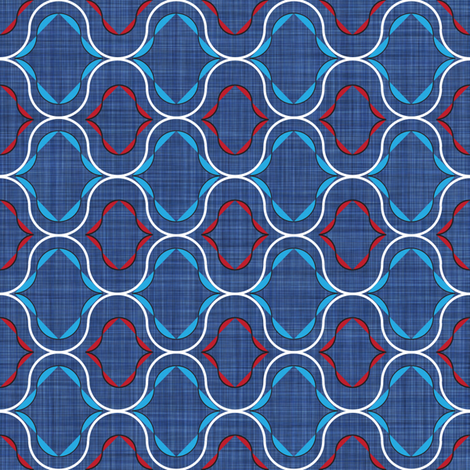 Sing_Navy_and_Red fabric by michelle_zollinger_tams on Spoonflower - custom fabric