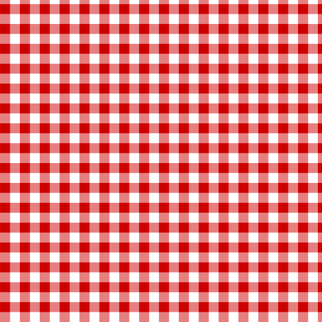 English Red Gingham Fabric By Weavingmajor On Spoonflower