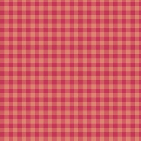 soft red gingham fabric by weavingmajor on Spoonflower - custom fabric