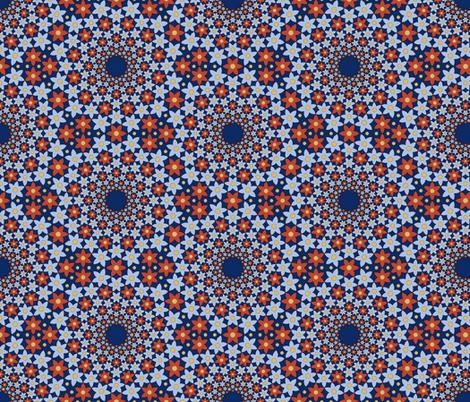 03043442 : mandala 12 : art nouveau floral fabric by sef on Spoonflower - custom fabric