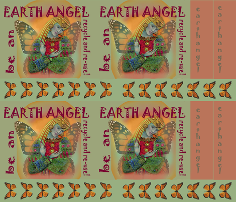 Earth Angel grocery bag fabric by bohobanjocloth on Spoonflower - custom fabric