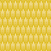 Tassel (Gold) || grain wheat corn leaves farm crop rows harvest feed sack feedsack geometric nature garden mustard