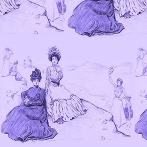 Gibson Girls on a mountain