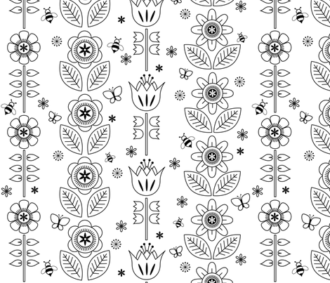 color me floral fabric by heleenvanbuul on Spoonflower - custom fabric
