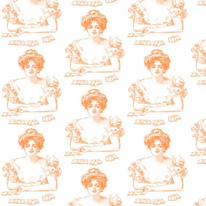 Gibson Girl Playing Cards