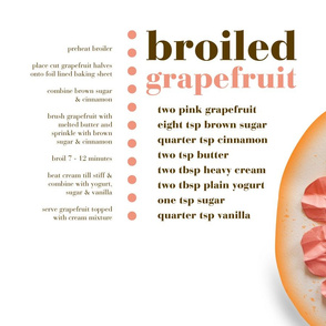 broiled grapefruit recipe tea towel