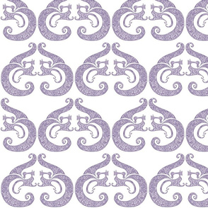 Sew Stylish - White & Soft Purple