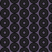 Black and Purple Kaleidoscope Circles