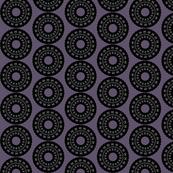 Black and Purple Kaleidoscope Circles
