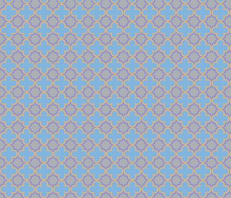 Moroccan clover Quatrefoils fabric by bluebirdworkshop on Spoonflower - custom fabric
