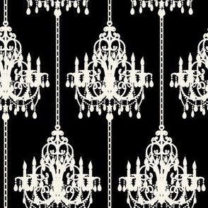 Chandalier Pinstripe on Black