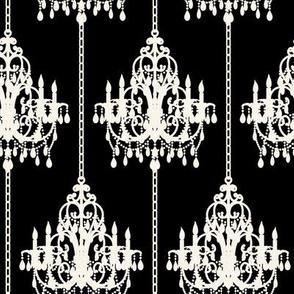Chandalier Pinstripe on Black