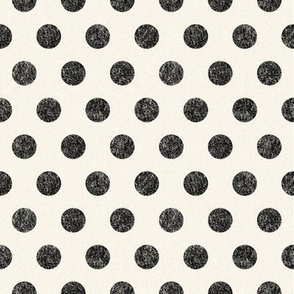 Large Black Polkadots on Cream