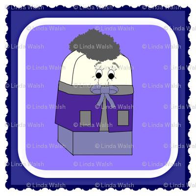Spike A Peek Doll Square Fabric
