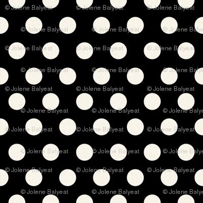 Large Cream Polkadots on Black