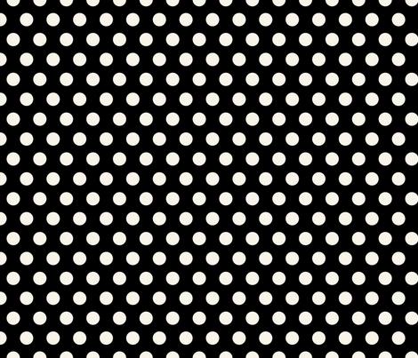 Large Cream Polkadots on Black fabric by jolenebalyeatdesigns on Spoonflower - custom fabric