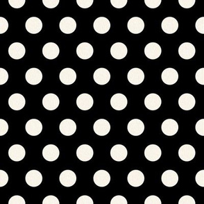 Large Cream Polkadots on Black
