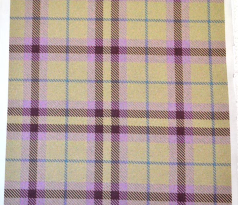 Raspberry Cream Plaid