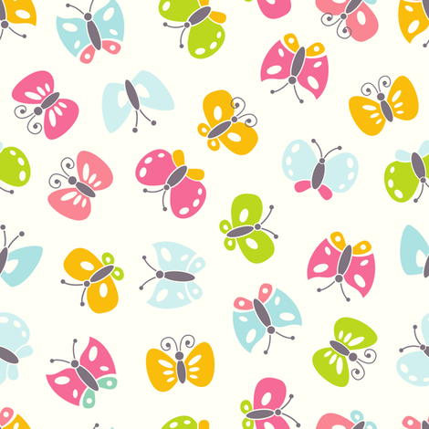 Pretty butterflies fabric by ev-da on Spoonflower - custom fabric