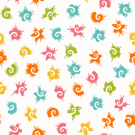 funny colorful shapes fabric by ev-da on Spoonflower - custom fabric