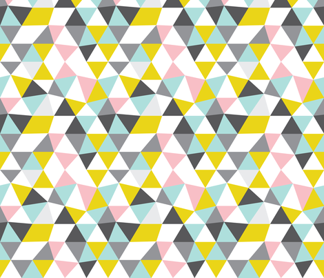 Quirky geometric pastels triangle fabric by littlesmilemakers on Spoonflower - custom fabric