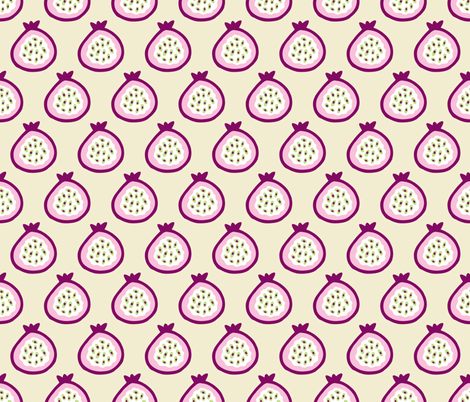 Pomegranate passion fruit fabric by littlesmilemakers on Spoonflower - custom fabric