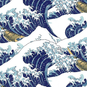 "the endless waves of Hokusai (30"")"