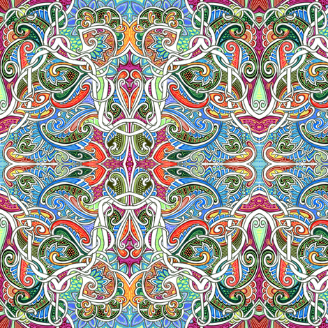 Fruits of the Paisley Vine fabric by edsel2084 on Spoonflower - custom fabric
