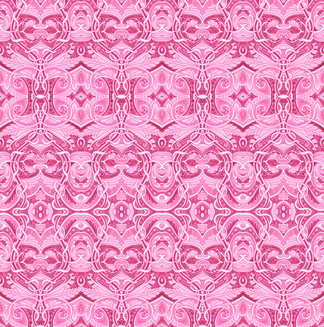 Girlie Pink Frills fabric by edsel2084 on Spoonflower - custom fabric