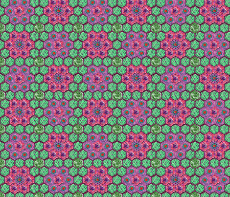 Crocheted Hexagons 2 fabric by nezumiworld on Spoonflower - custom fabric