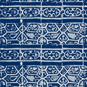 Arabic tiles blue and white