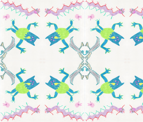 crayonmonsters fabric by serenity_ii on Spoonflower - custom fabric