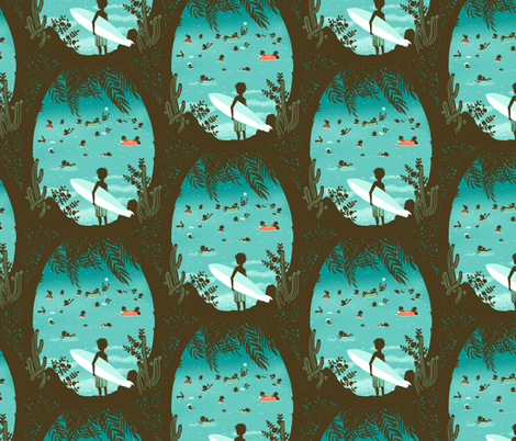 surfing fabric by sanneteloo on Spoonflower - custom fabric