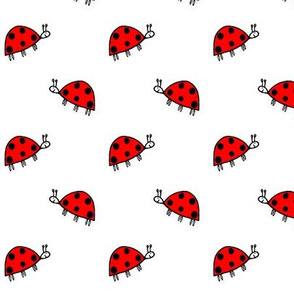 Sophie's Ladybirds Red on White