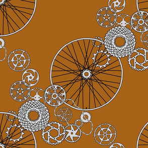 Beautiful bicycle parts - gingerbread cookie