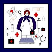 Nurses Fabric Border