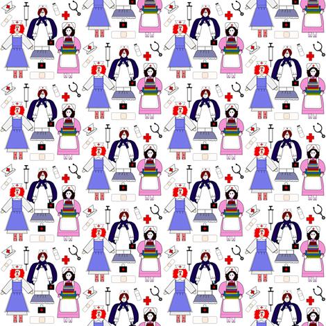 Nurses Fabric 2 fabric by lworiginals on Spoonflower - custom fabric