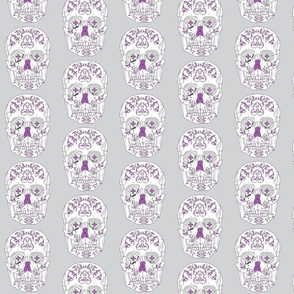 DOTD skull purple and blue