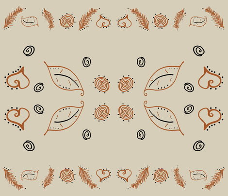 Napping Fox Foliage fabric by therustichome on Spoonflower - custom fabric