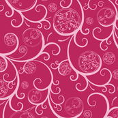 Pink Scroll Geometric Medium