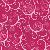 Pink Scroll Geometric Medium