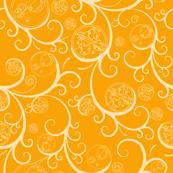 Yellow Scroll Geometric Medium