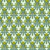 Upright waratahs, yellow on mint