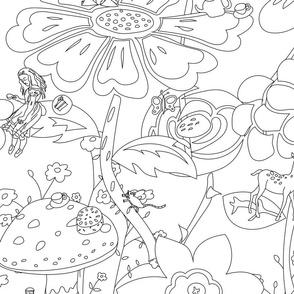 Wonderland Garden - Colour it in!