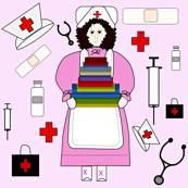 Nurses Doll Medical Fabric 4