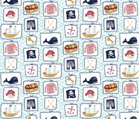 Ahoy There fabric by jillbyers on Spoonflower - custom fabric